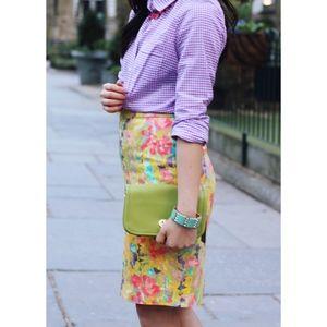 J. Crew floral watercolor pencil skirt - size 6